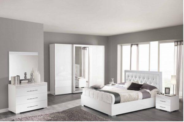 Спальня Cleo white купить в салоне-студии мебели Барселона mnogospalen.ru много спален мебель Италии классические современные