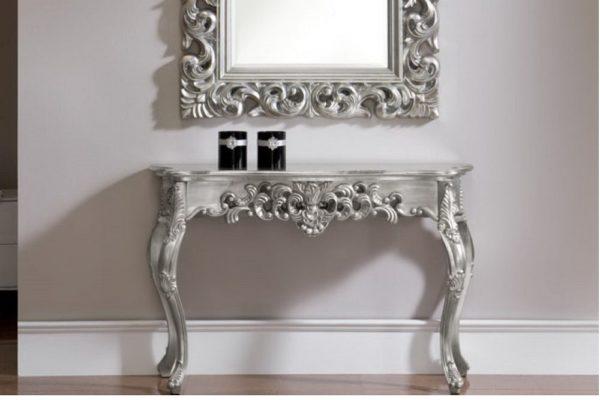 Консоль DUPEN K58 silver купить в салоне-студии мебели Барселона mnogospalen.ru много спален мебель Италии классические современные