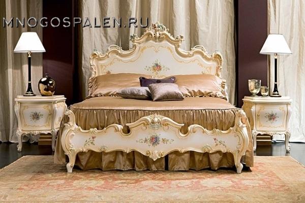 Cпальня Мирабелла 3907 купить в салоне-студии мебели Барселона mnogospalen.ru много спален мебель Италии классические современные