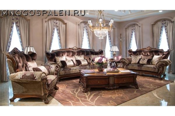Диван ANAIDA CHOCO купить в салоне-студии мебели Барселона mnogospalen.ru много спален мебель Италии классические современные