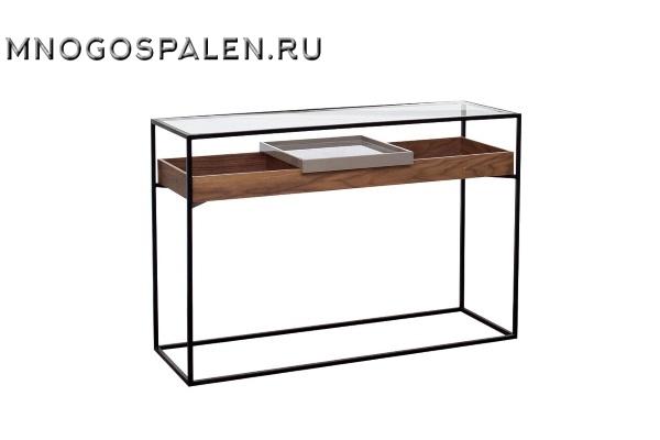 Консоль со стеклом 40AD-DT060 купить в салоне-студии мебели Барселона mnogospalen.ru много спален мебель Италии классические современные