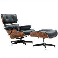 Кресло «EAMES LOUNGE CHAIR» чёрный купить в салоне-студии мебели Барселона mnogospalen.ru много спален мебель Италии классические современные