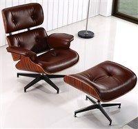 Кресло «EAMES LOUNGE CHAIR» коньячный купить в салоне-студии мебели Барселона mnogospalen.ru много спален мебель Италии классические современные