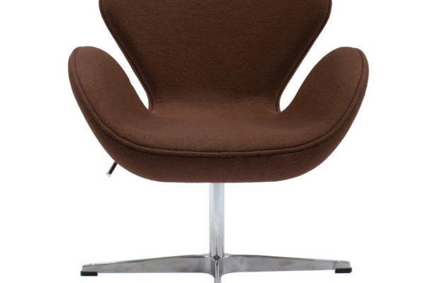 Кресло SWAN CHAIR коричневый купить в салоне-студии мебели Барселона mnogospalen.ru много спален мебель Италии классические современные