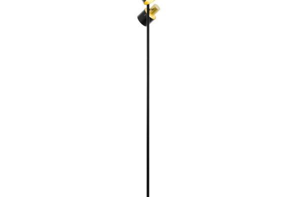 39388 Торшер FIUMARA, 2x60W(E27), сталь, черный, золотой купить в салоне-студии мебели Барселона mnogospalen.ru много спален мебель Италии классические современные