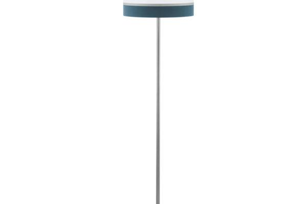 39558 Торшер SPALTINI, 1x60W(E27), сталь, никель мат/текстиль, белый, серебряный, синий купить в салоне-студии мебели Барселона mnogospalen.ru много спален мебель Италии классические современные