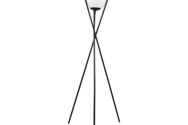 39594 Торшер SALVEZINAS с ножн.выкл., 1х25W(E27), ?280, H1500, основа ?600, сталь, черный/опаловое с купить в салоне-студии мебели Барселона mnogospalen.ru много спален мебель Италии классические современные