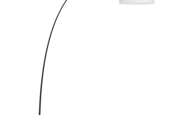 39637 Торшер LESQUERDE с ножн.выкл., 3х20W(E27), L1945, B460, H2200, основа ?590, сталь, черный/текс купить в салоне-студии мебели Барселона mnogospalen.ru много спален мебель Италии классические современные