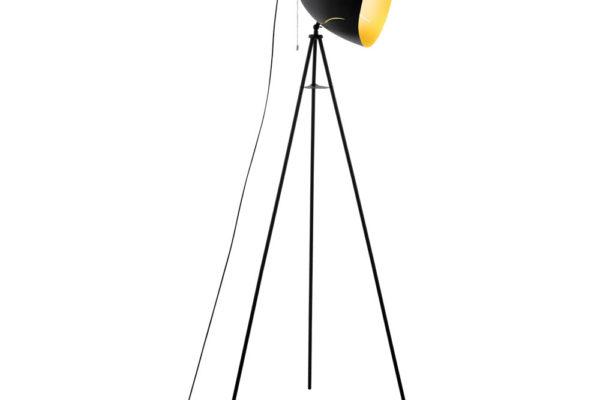 43008 Торшер HUNNINGHAM,1x60W (E27), L600, B600, H1355, сталь, черный, золото купить в салоне-студии мебели Барселона mnogospalen.ru много спален мебель Италии классические современные