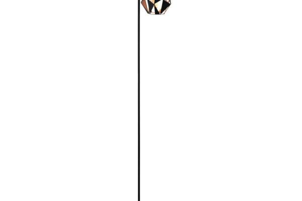 43059 Торшер CARLTON 4 с ножн. выкл., 1х60W(E27), L240, B220, H1510, основа ?170, cталь, черный, мед купить в салоне-студии мебели Барселона mnogospalen.ru много спален мебель Италии классические современные