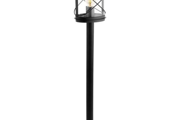 94844 Уличный светильник напольный HILBURN, 1х60W(E27), H1030, гальван. сталь, черный/пластик, прозр купить в салоне-студии мебели Барселона mnogospalen.ru много спален мебель Италии классические современные